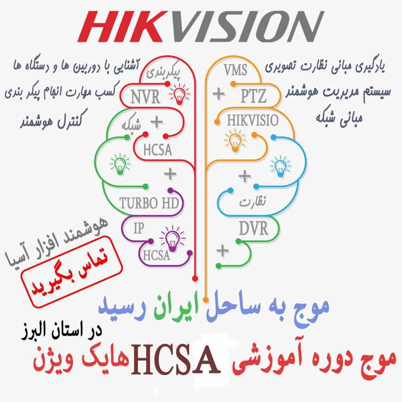 برگزاری دوره آموزشی hcsa هایک ویژن در شرکت هوشمندافزار آسیا