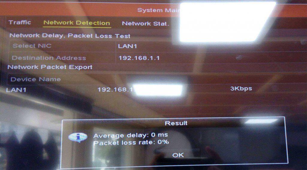 hikvision network test 1024x570-مشکل عدم اتصال dvr / nvr هایک ویژن به اینترنت چگونه حل میشود؟-نصب دوربین مداربسته در کرج
